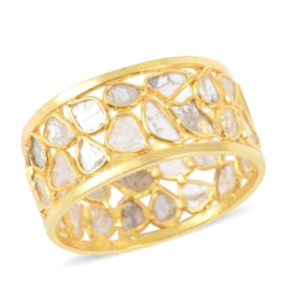 - 34 Diamonds!!! 2 ctw Polki diamond ring
